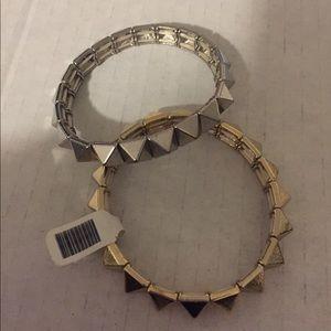 SILVER Pyramid Stud Bracelet
